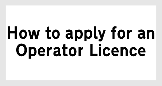 operator licence