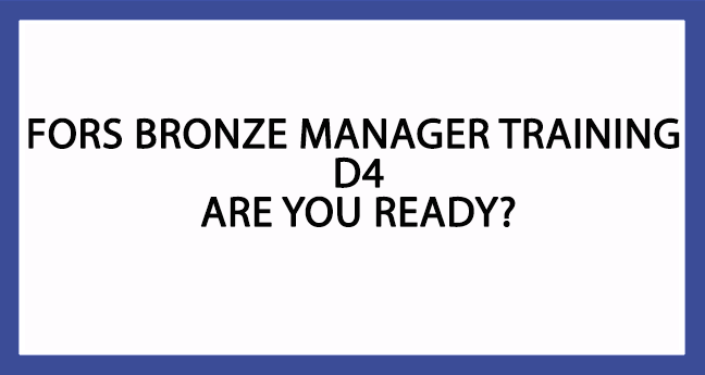 FORS Bronze Manager Training D4