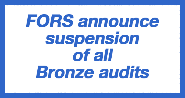 FORS announced their suspension of all Bronze audits