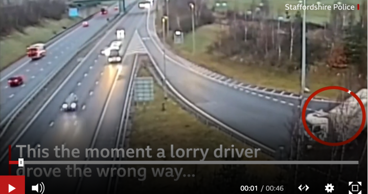 Lorry driver gets send down after motorway U-turn