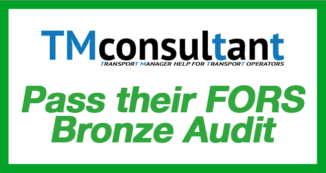 TMconsultant pass their FORS Bronze audit