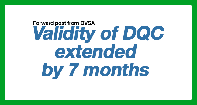 Validity of DQC extended by 7 months